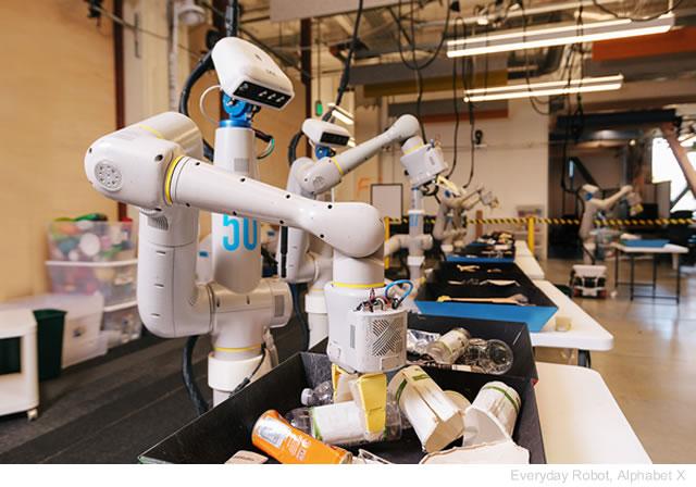 Il robot di Alphabet che raccoglie e ricicla la spazzatura