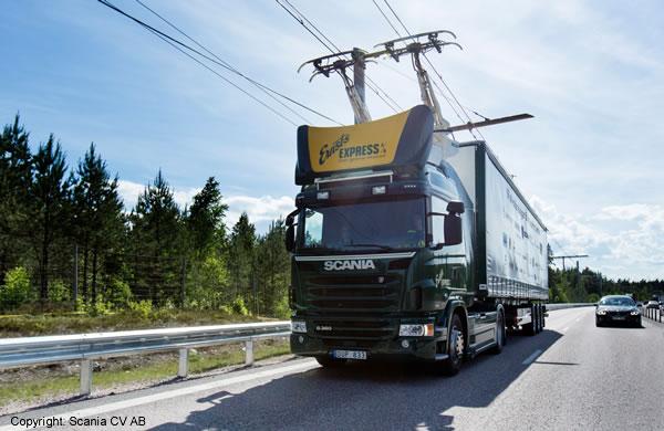Autostrada elettrica per TIR ibridi ed elettrici