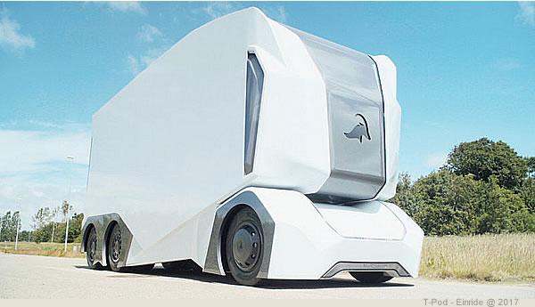 Einride T-Pod, autocarro a guida autonoma senza cabina