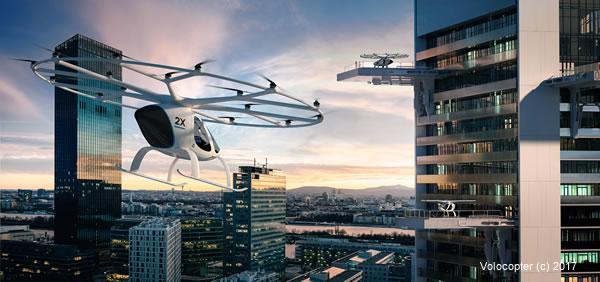 Volocopter, driverless air taxi a Dubai